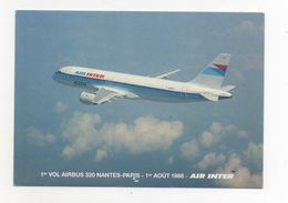 Nantes : Premier Vol Airbus Nantes Paris 1988 (avion) - Nantes