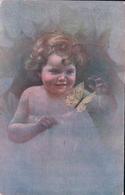 Guerzoni Illustrateur, Portrait D'Enfant + Censure (7426) Usure Des Angles - Other Illustrators