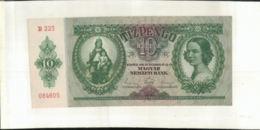 Billet  HONGRIE 10 PENGO   Banque Budapest 1936     (Mai 2020  015) - Hungary