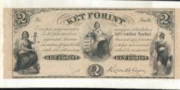 Billet Hongrie  2 KET FORINT 1852 KOSSUTH LAJOS STATUT   (Mai 2020  015) - Hungary