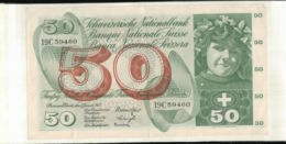 Billet SUISSE  50 FRANCHI 1965       (Mai 2020  015) - Schweiz