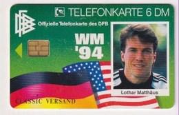 TK  25154 GERMANY - Chip O808 04.94 Fussball-WM USA 94 - Lothar Matthäus 10 000 Ex. MINT! - Deutschland