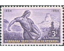 Ref. 161589 * MNH * - UNITED STATES. 1954. CENTENARY OF THE TERRITORY OF NEBRASKA . CENTENARIO DEL TERRITORIO DE NEBRAS - Photography