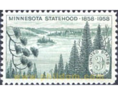 Ref. 161674 * MNH * - UNITED STATES. 1958. CENTENARY OF THE STATE OF MINNESOTA WITHIN THE UNION . CENTENARIO DEL ESTADO - Photography