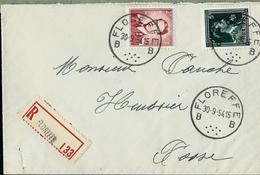 Doc. De FLOREFFE - B B - Du 30/09/54 En Rec. - Landpost (Ruralpost)