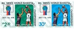 Ref. 52604 * MNH * - PHILIPPINES. 1978. 8th WORLD BASKETBALL CHAMPIONSHIP . 8 CAMPEONATO DEL MUNDO DE BALONCESTO - Pallacanestro