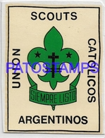 134550 ARGENTINA PUBLICITY SCOUTS UNION CATOLICOS STICKER NO  POSTAL POSTCARD - Advertising