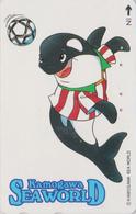 TC JAPON / 110-011 - Série SEA WORLD 1 - COMICS ANIMAL - DAUPHIN FOOTBALL - DOLPHIN SOCCER JAPAN Phonecard - Stripverhalen