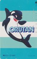 TC JAPON / 110-93062 - Série SEA WORLD 2 - COMICS ANIMAL - ORQUE ORUTAN - ORCA JAPAN Phonecard - Stripverhalen