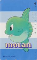 TC JAPON / 110-127627 - Série SEA WORLD 2 - COMICS ANIMAL - POISSON LUNE MOLAN JAPAN Phonecard - Stripverhalen