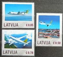 2014Latvia892-894Airplane4,80 € - Aerei