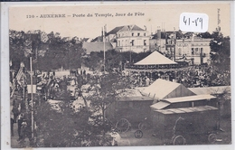 AUXERRE- PORTE DU TEMPLE- JOUR DE FETE- LES MANEGES - Auxerre