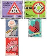Ref. 49210 * MNH * - GHANA. 1974. ADAPTATION OF RIGHT HAND DRIVING . ADAPTACION A LA CONDUCCION POR LA DERECHA - Ghana (1957-...)