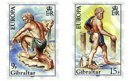 Ref. 82437 * MNH * - GIBRALTAR. 1981. EUROPE CEPT. FOLKLORE EUROPA CEPT. FOLKLORE . EUROPA CEPT. FOLCLORE - Europa-CEPT