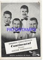 134594 ARGENTINA ORQUESTA CONTINENTAL EXITOS OSEON NO POSTAL POSTCARD - Artistes