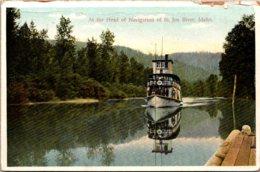 Idaho Steamer At The Head Of Navigation Of St Joe River - Etats-Unis