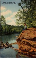 Arkansas Eureka Springs Scene On The Osage River Curteich - Etats-Unis