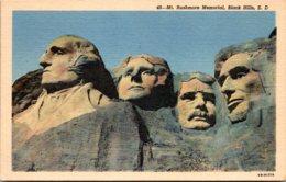 South Dakota Black Hills Mount Rushmore Memorial Curteich - Mount Rushmore
