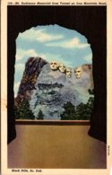 South Dakota Black Hills Mount Rushmore Memorial From Tunnell On Iron Mountain Road 1950 Curteich - Mount Rushmore