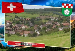 Postcard, REPRODUCTION, Municipalities Of Switzerland, Olsberg - Mapas
