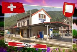 Postcard, REPRODUCTION, Municipalities Of Switzerland, Péry - Mapas
