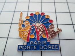 810H  Pin's Pins / Beau Et Rare / THEME : McDONALD'S / PARIS PORTE DOREE Comme Le Staphylocoque - McDonald's