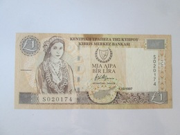 Cyprus 1 Lira 1997 Banknote - Chypre