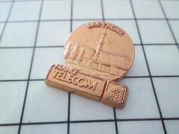 615E  Pin's Pins / Beau Et Rare / THEME : FRANCE TELECOM / BRETAGNE TOUT METAL JAUNE - France Telecom