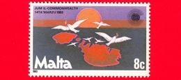 Nuovo - MNH - MALTA - 1983 - Giornata Del Commonwealth - Colombe Della Pace  - 8 - Malta