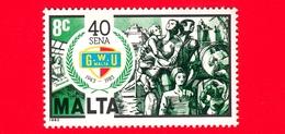 Nuovo - MNH - MALTA - 1983 - 40 Anni Dell'Unione Generale Dei Lavoratori - Trade Union - 8 - Malta