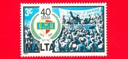Nuovo - MNH - MALTA - 1983 - 40 Anni Dell'Unione Generale Dei Lavoratori - Trade Union - 3 - Malta