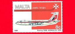 Nuovo - MNH - MALTA - 1984 - Aerei - Air Malta - Boeing 720B- 8 - Posta Aerea - Malta