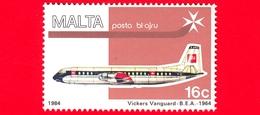 Nuovo - MNH - MALTA - 1984 - Aerei - Air Malta - Vickers 953 Vanguard - 16 - Posta Aerea - Malta