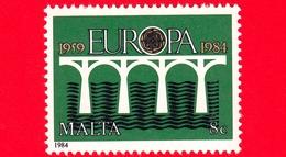 Nuovo  - MNH - MALTA - 1984 - Europa - C.E.P.T. - Ponte - Logo Del 25 ° Anniversario - 8 C - Malta