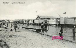 PHOTO  BRINDISI  : STABILIMENTI BALNEARI :photo Of Old Postcard, 2 Scans - Lieux