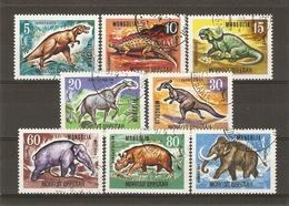 Mongolie 1967 - Animaux Préhistoriques - Série Complète ° 447/454 - Mongolia