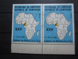 VEND BEAUX TIMBRES DU CAMEROUN N° 789 EN PAIRE + BDF , XX !!! - Cameroun (1960-...)
