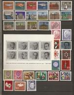 Allemagne Fédérale 1964 - Année Complète MNH - 284/321 -  BF 2 - Timbres