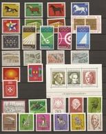 Allemagne Fédérale 1969 - Année Complète MNH - 441/474 - Bloc 4 - Vrac (max 999 Timbres)