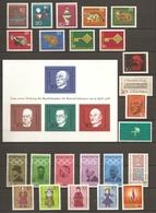 Allemagne Fédérale 1968 - Année Complète MNH - 411/440 - Bloc 3 - Timbres