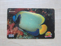 Uniphone GPT Phonecard,14MSAA  Visit Malaysia Year 1990, Ocean Fish, Used - Malaysia