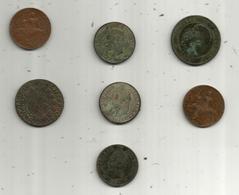 Monnaie, FRANCE , LOT DE 7 MONNAIES  , 2 Scans, Frais Fr 3.65 E - Vrac - Monnaies