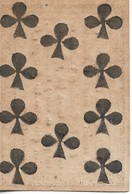 Ancienne Carte à Jouer, 10 De Trèfle, Avec Publicité Au Dos, Vers 1800 - Autres Collections