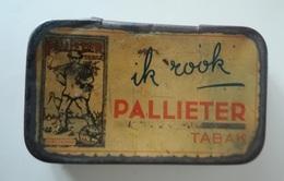 IK ROOK PALLIETER TABAK - Tabaksfabriek D'ekster Lier 1930 - Tabaksdozen (leeg)