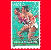 Nuovo - MNH - MALTA - 1984 - Giochi Olimpici Estivi 1984, Los Angeles - Corsa - 7 C - Malta