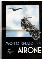 Dépliant Publicitaire Pour Moto Guzzi 1947 Airone 250 En 2 Volets A4 - Advertising