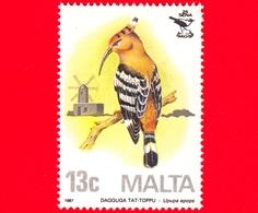 Nuovo - MNH - MALTA - 1987 - 25 Anni Della Società Ornitologica - Uccelli - Birds - Upupa - (Upupa Epops) - 13 C - Malta