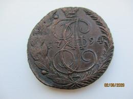 SUPERB CONDITION 1794 EM RUSSIA HUGE COPPER COIN 5 KOPEK , O - Rusland