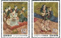 Ref. 155794 * MNH * - JAPAN. 1989. EUROPALIA 89. IMAGES OF OKUNI KABUKI CLASSIC THEATRE . EUROPALIA 89. ESCENAS DE TEATR - Nuevos