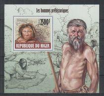 A772. Niger MNH - 2013 - Nature - Prehistoric - Human - Bl - Espacio